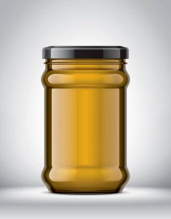 Glass Jar Mockup on Background. Stockfoto