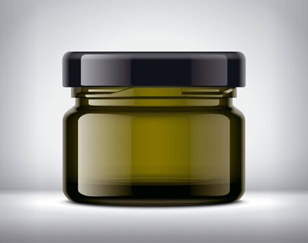 Glass Jar Mockup on Background. Banco de Imagens