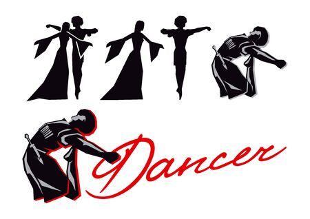 Danses folkloriques des peuples du Caucase Vecteurs
