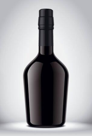 Glass Bottle Mockup on Background. Archivio Fotografico