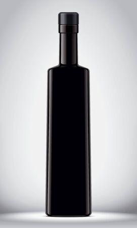Glass Bottle Mockup on Background. Stok Fotoğraf