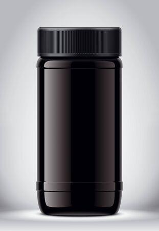Glass Jar Mockup on Background. Stok Fotoğraf
