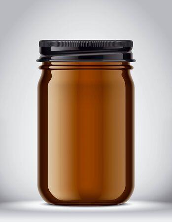 Glass Jar Mockup on Background. 版權商用圖片 - 131941229