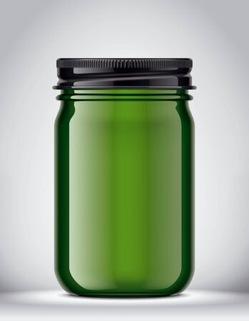 Glass Jar Mockup on Background. 版權商用圖片