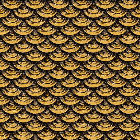 Gold fish scale endless background Foto de archivo - 134550476