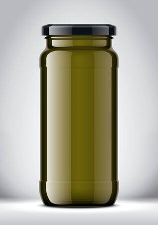 Glass Jar Mockup on Background. Фото со стока