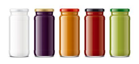 Set of Glass Jar Mockup. Фото со стока