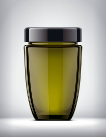 Glass Jar Mockup on Background. Reklamní fotografie