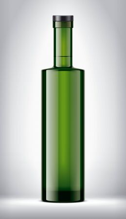 Glass bottle on background.