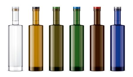 Set of Colored Glass bottles. Zdjęcie Seryjne