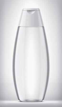 Plastic Bottle on background. Transparent version. White Cap. Imagens