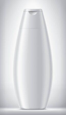 Plastic Bottle on background. Matt surface version.