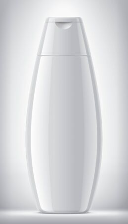Plastic Bottle on background. Glossy surface version.