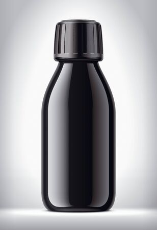 Medical Bottle on background. Glossy surface version.