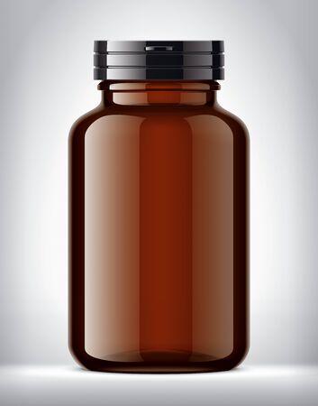 Bottle for pills on background.