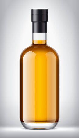 Glass bottle on Background. Foil version.