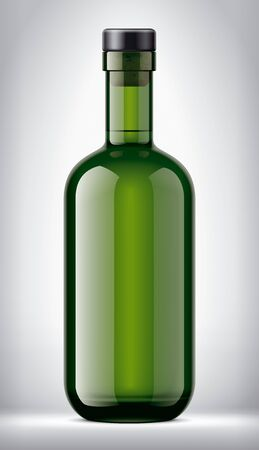 Glass bottle on Background. Version with Cork.