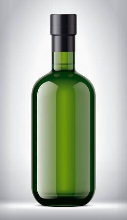 Glass bottle on Background. Version with Foil.
