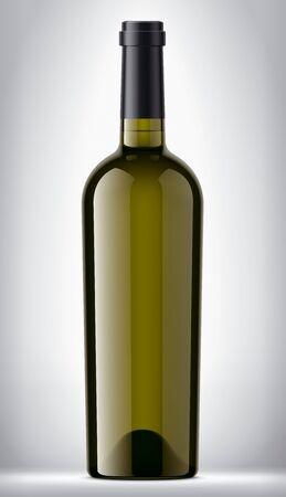 Glass bottle on background.