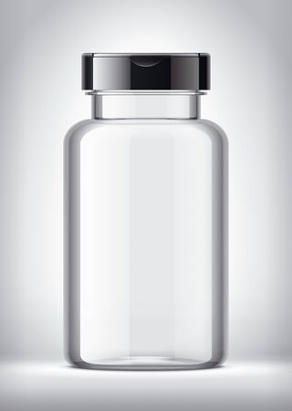 Bottle on background. With Black Cap.
