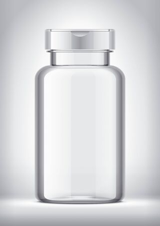 Bottle on background. With White Cap.