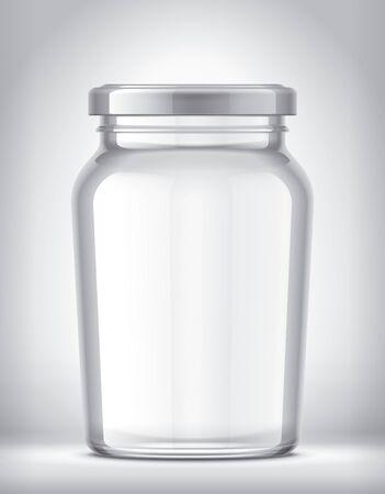 Glass Jar on Background. Archivio Fotografico