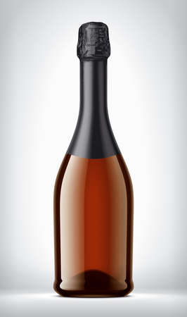 Color Glass Bottle on background with Black Foil.