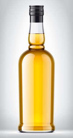 Glass bottle on background. Stock Photo