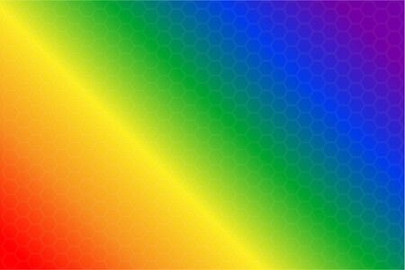 Vector illustration of gradient background in six rainbow colors. Background from hexagons. Rainbow flag of LGBT-community