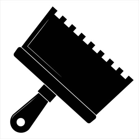 Putty knife flat icon, build and repair, spatula sign vector graphics.