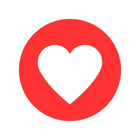 Like social network icon in heart shape on white  イラスト・ベクター素材