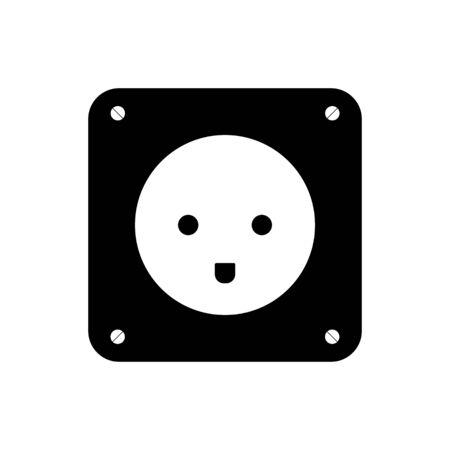Socket plug icon isolated vector, outline vector. EPS 10 Ilustracja
