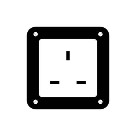 Socket plug icon isolated vector, outline vector. Ilustracja