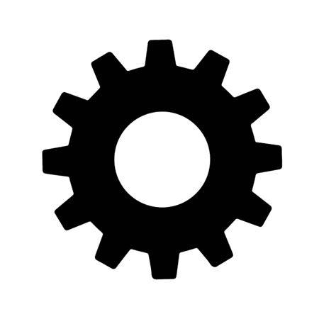 Gear sign simple icon on background. icon of work tools. EPS 10