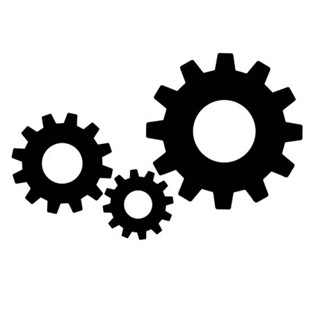 Gears sign simple icon on background. icon of work tools.