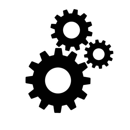 Gears sign simple icon on background. icon of work tools. EPS 10 Vettoriali