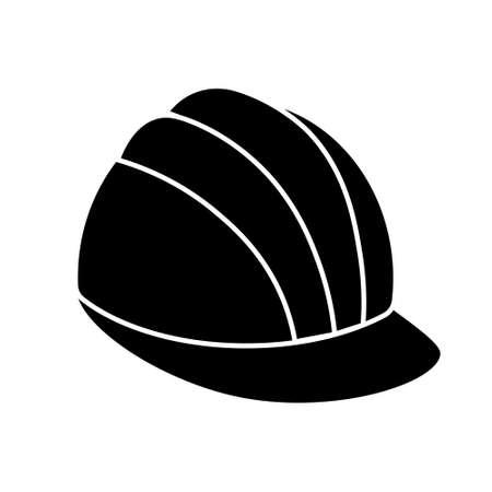Construction safety work helmet line style icon. Ilustracja
