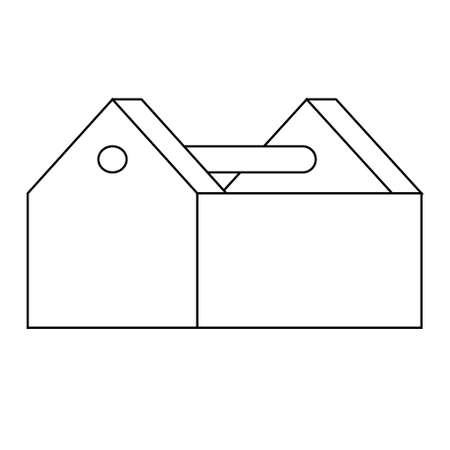 Empty Toolbox icon. Flat illustration of work tool. EPS 10