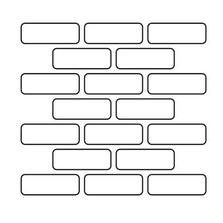 Brick wall icon in trendy design style.