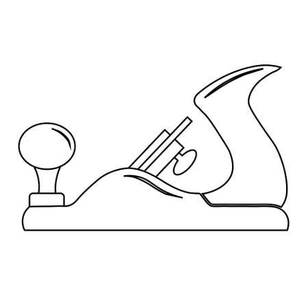 Vector illustration of flat block plane icon. Vektorgrafik