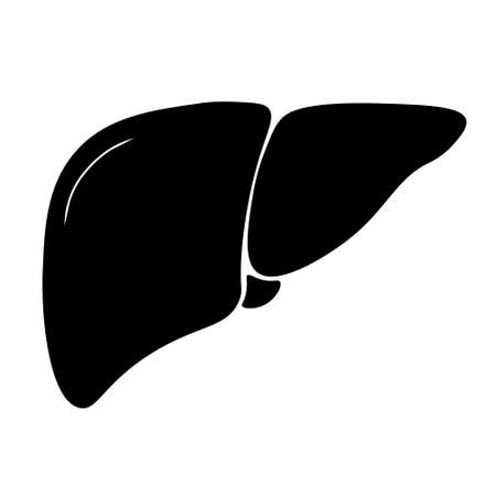 Liver icon in trendy flat style. Symbol for your web site design, logo, app, UI. Simple illustration