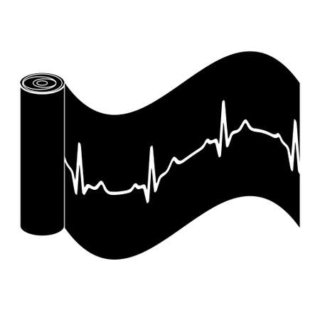 Cardiogram. Heart beat icon. Heartbeat line. Electrocardiogram on paper. Medical icon