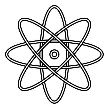 Atom icon illustrator vector. Simple atom symbol. Medical tool