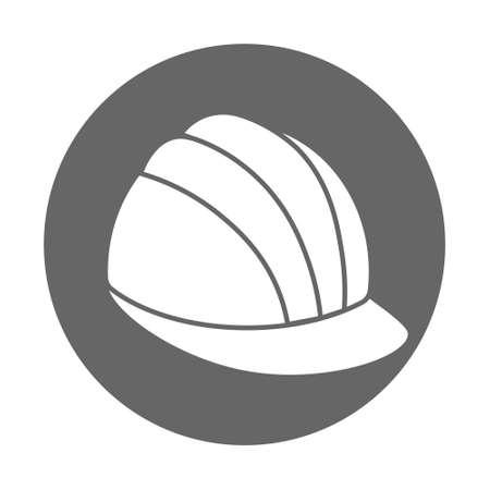 Simple construction safety work helmet line style icon. Flat style Ilustracja