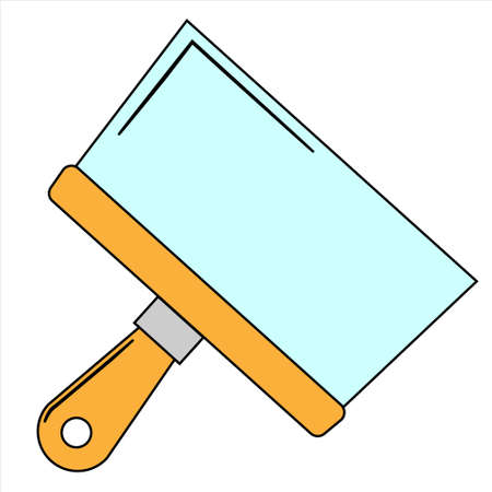 Putty knife flat icon Build and repair spatula sign. Flat style