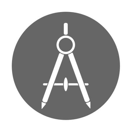 Compass icon in trendy Architecture symbol for web site, design,   app, UI. Flat style