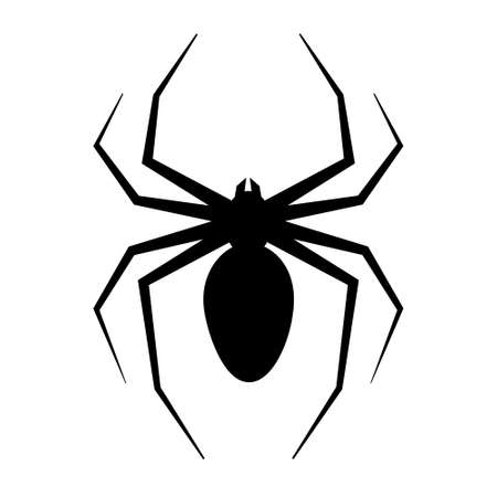 Simple illustration of spider for Happy Halloween Day. Flat style Stock Illustratie