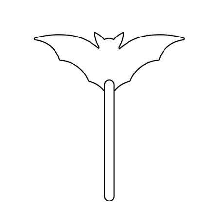 Simple illustration of sweet candy on a stick for halloween day. Flat style