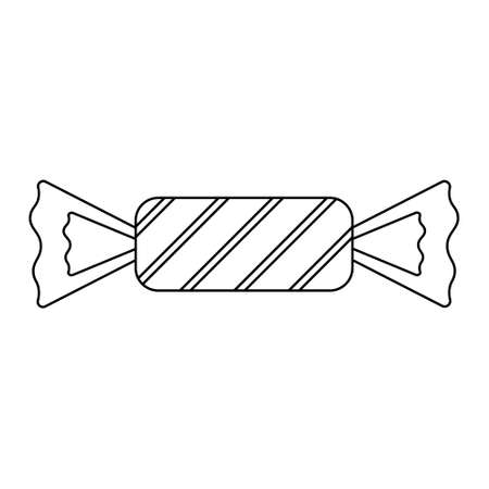 Simple illustration of sweet wrapped candy for halloween day. Flat style Illustration