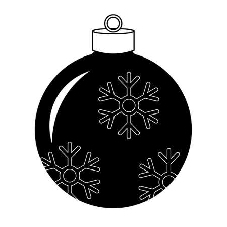 Simple illustration of Christmas tree toy Object for christmas design, mockup. Holiday decoration template